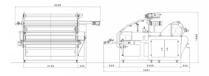 延機1940型:寸法図
